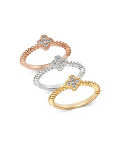 Bloomingdale's Diamond Clover Stacking Band in 14K Gold - 100% Exclusive_0