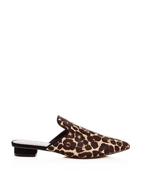 Rebecca Minkoff - Women's Chamille Too Leopard Print Calf Hair Mules