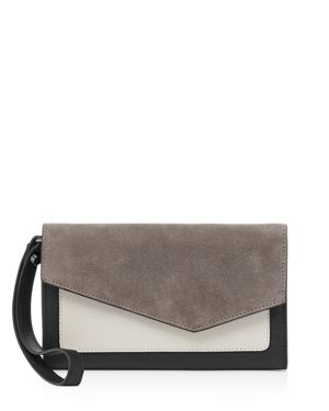 Botkier Cobble Hill Suede & Leather Wallet