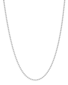 """Dodo - Sterling Silver Everyday Chain Ball Chain Necklace, 15.7"""""""