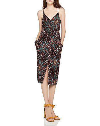 BCBGeneration - Floral Paisley Twist-Front Dress