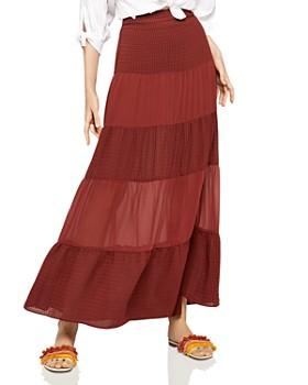 BCBGeneration - Tiered Chiffon Maxi Skirt