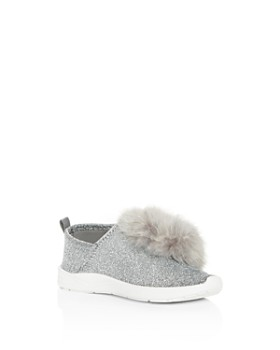 92d07673ca2a Sam Edelman - Girls  Ariana Pom-Pom Glitter Knit Slip-On Sneakers ...