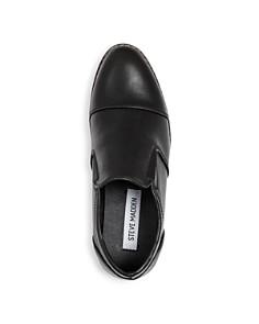 STEVE MADDEN - Boys' BSerge Leather Cap-Toe Loafers - Little Kid, Big Kid
