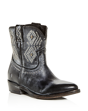 Frye Women's Billy Distressed Leather Low-Heel Western Boots