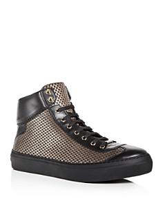 Jimmy Choo - Men's Argyle Embossed Leather High Top Sneakers