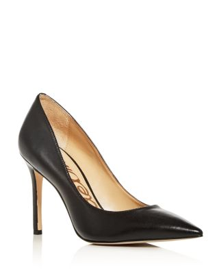 Women's Hazel Leather Pointed Toe Pumps by Sam Edelman