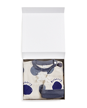 Burberry Boys' Dots Hat & Footie Set - Baby