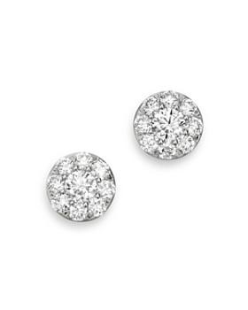 Bloomingdale S Diamond Circle Small Stud Earrings In 14k White Gold 1 0 Ct