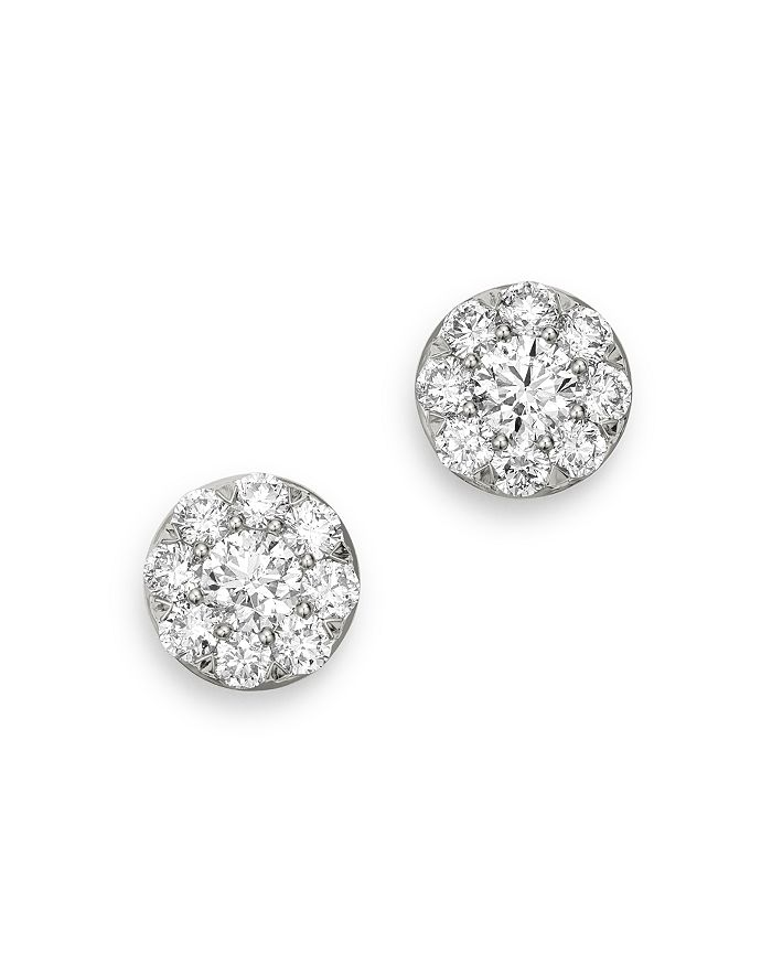 Bloomingdale's DIAMOND CIRCLE SMALL STUD EARRINGS IN 14K WHITE GOLD, 1.0 CT. T.W. - 100% EXCLUSIVE