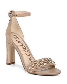 Sam Edelman - Women's Yoshi Open Toe Studded Suede High-Heel Sandals