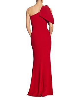 Dress the Population - Georgina Crepe One-Shoulder Gown