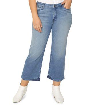 Sanctuary Plus Nonconformist Wide-Leg Crop Jeans in Chelsea Blue 3081862