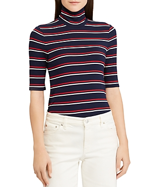 Lauren Ralph Lauren Striped Turtleneck Tee