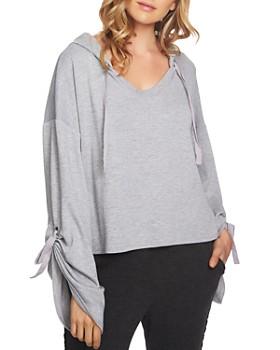 1.STATE - Cozy Hooded Crop Sweatshirt