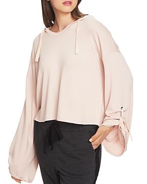 1.state Cozy Hooded Crop Sweatshirt