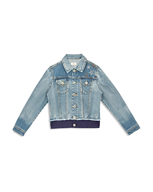 Ag Girls' Georgia Contrast Embroidered Denim Jacket - Big Kid