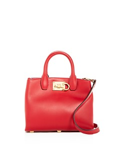 Salvatore Ferragamo The Studio Bag Mini Leather Satchel - Bloomingdale's_0