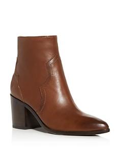 Frye - Women's Flynn Leather Western Block-Heel Booties