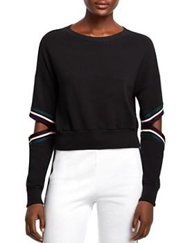 Michelle by Comune - Orondo Cutout Cropped Sweatshirt
