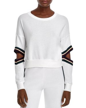 MICHELLE BY COMUNE Michelle By Comune Orondo Cutout Cropped Sweatshirt in White