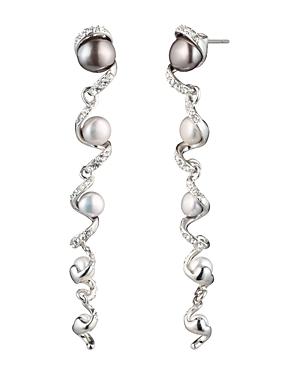 Carolee Cultured Freshwater Pearl Linear Drop Earrings