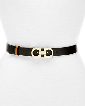 Salvatore Ferragamo - Women's Gancini Slim Reversible Leather Belt