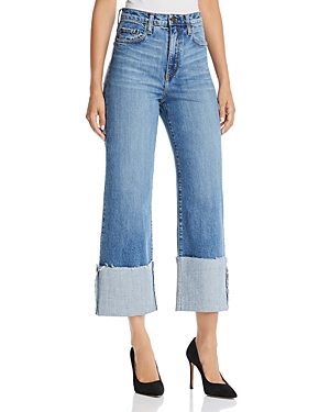 Nobody Milla Wide-Leg Cuffed Jeans in Influencer