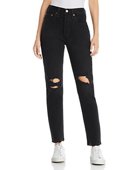 Levi's - 501 Straight Jeans in Black Listed
