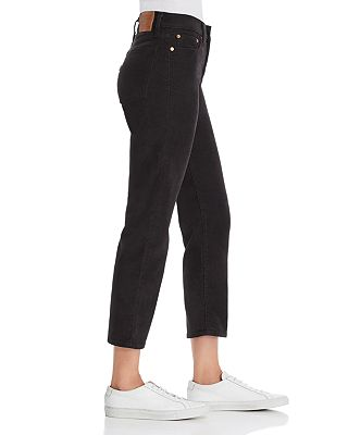 Levi S Wedgie Straight Corduroy Jeans In Black Bloomingdale S
