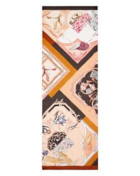 Salvatore Ferragamo - Bird Patchwork Print Silk Scarf