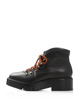Clergerie - Women's Celina Round Toe Leather Booties