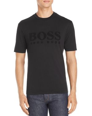 BOSS TEESCAPE TERRY-LOGO GRAPHIC TEE