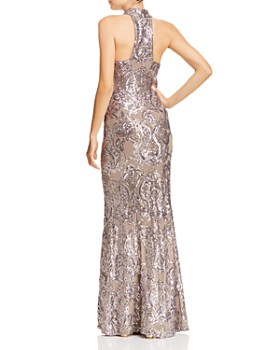AQUA - Sequined Damask Gown - 100% Exclusive