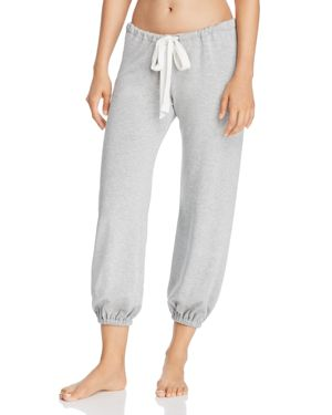 Winter Heather Cropped Jogger Pants, Heather Gray