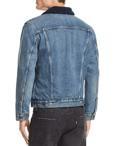 Levi's - Faux Shearling-Lined Denim Trucker Jacket