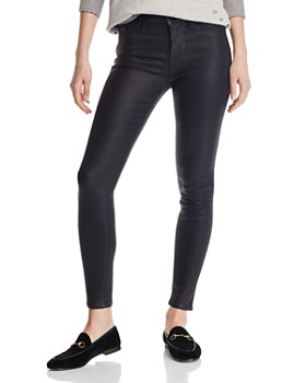 bad88072ac4 Hudson - Nico Mid Rise Ankle Super Skinny Jeans in Noir Coated ...
