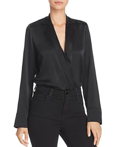 CAMI NYC - Andi Lapeled Crossover Bodysuit