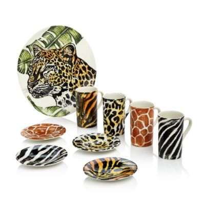 Into the Jungle Animal-Patterned Service Plates/Chargers - Set of 4 - 100% Exclusive