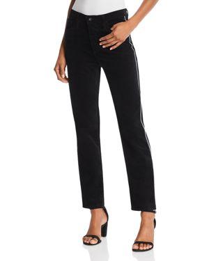 Ag Isabelle Straight Velvet Jeans in Super Black 3111350
