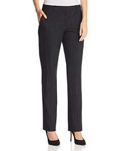 BOSS - Tamea Pinstriped Straight-Leg Pants