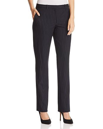 BOSS - Tamea Pinstriped Straight-Leg Pants