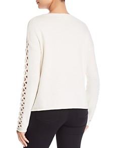 VINCE CAMUTO - Lattice-Sleeve Sweater