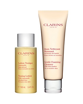 Clarins - Cleansing Essentials Dry Duo for Sensitive Skin ($39 value)
