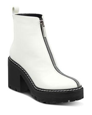 KENDALL AND KYLIE Women'S Jace Block-Heel Platform Booties in Ivory