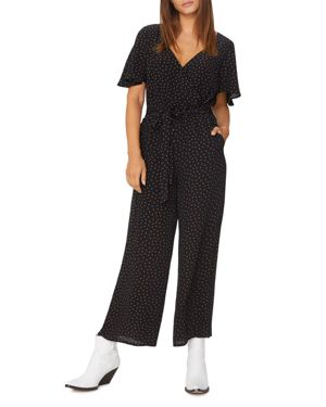 Chasing Winds Wide-Leg Cropped Jumpsuit in Black