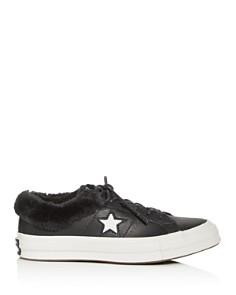 Converse - Women's One Star Faux-Fur Low-Top Sneakers