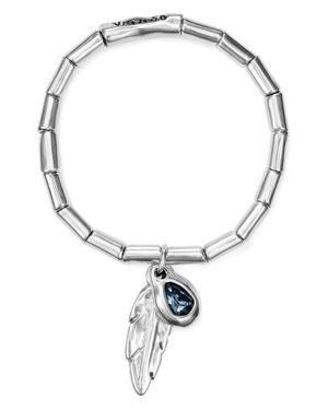 UNO DE 50 Uno De 50 Plucked Feather & Crystal Bracelet in Silver