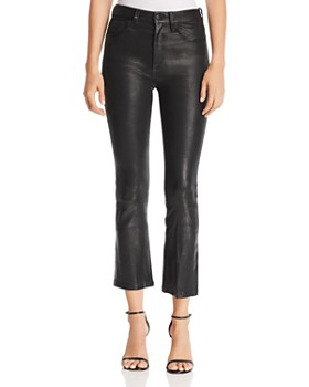 Joe's Jeans - Cropped Bootcut Leather Pants