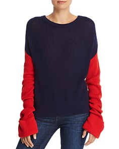 Splendid Color Block Drop Shoulder Sweater - Bloomingdale's_0
